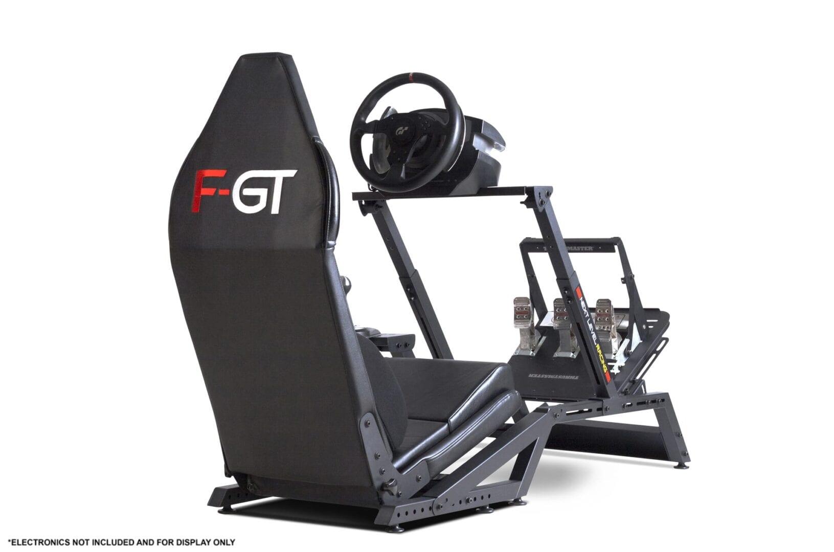 Next Level Racing F-GT Matte Black Simulator Cockpit 111
