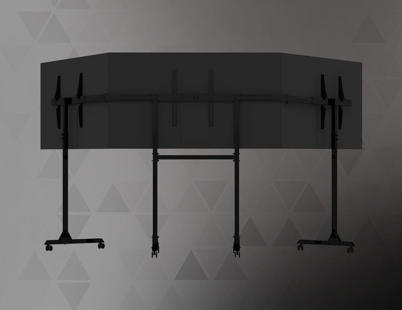 FREE STANDING TRIPLE MONITOR STAND